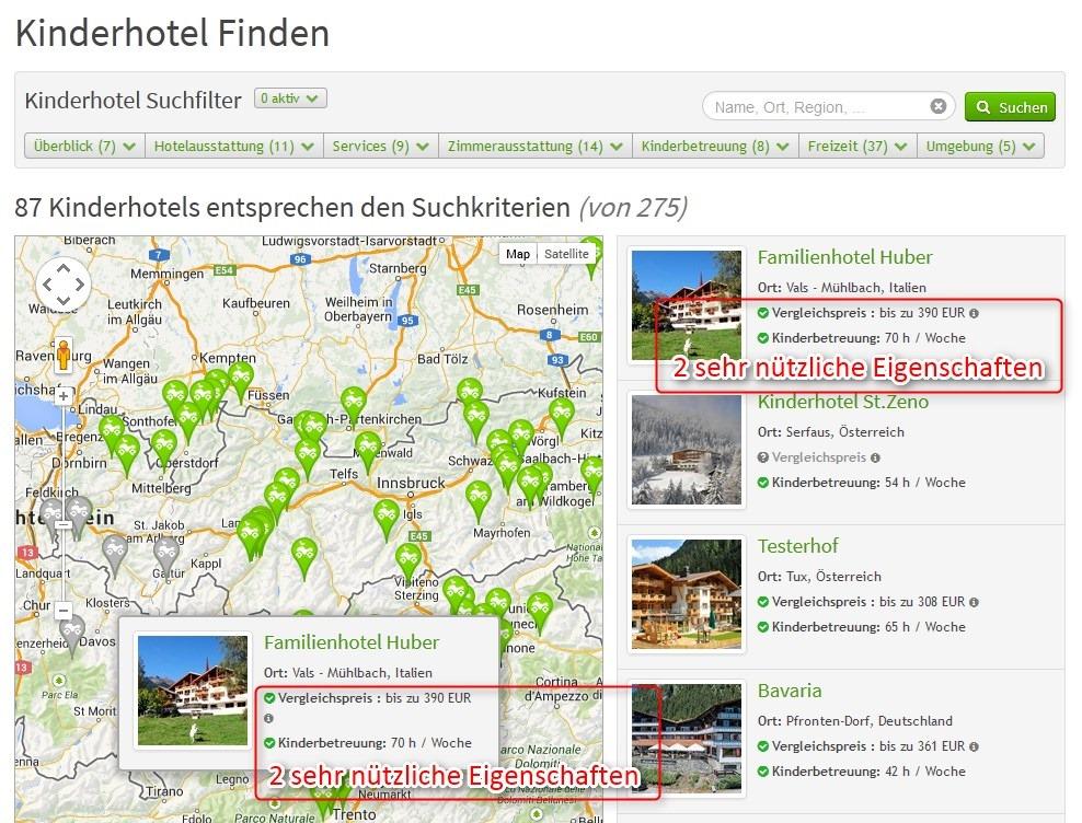 2 sehr nützliche Eigenschaften auf der Suchseite in der Ergebnisliste und im Karten-Popup | discoverize - die individuelle Web Portal Software für branchen-spezifische Web Portale