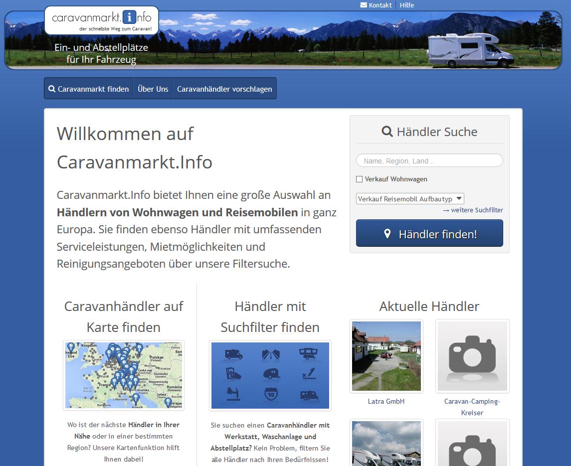 caravanmarkt.info - Portal für Händler von Wohnwagen und Reisemobilen