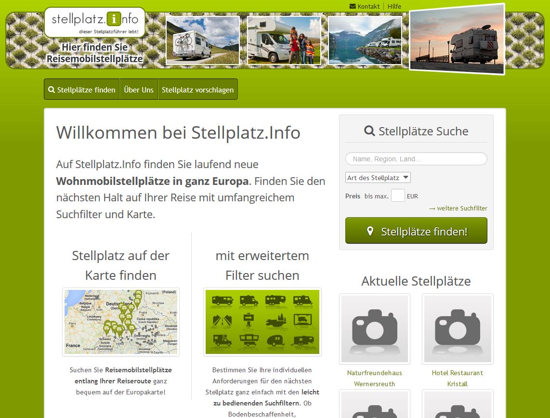 stellplatz.info - ein Portal für Reisemobilstellplätze