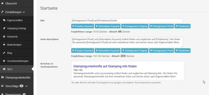 individuelle title und meta description angeben für besseres SEO ranking und Click-Through-Rate CTR