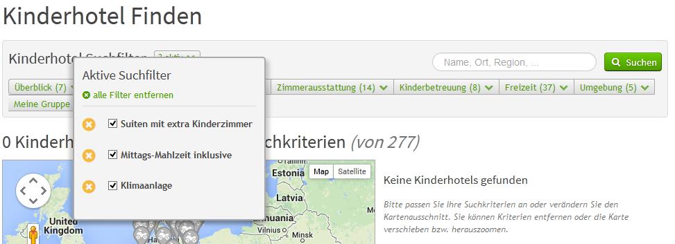 Suchseite - alle Suchfilter entfernen | discoverize - die individuelle Web Portal Software für branchen-spezifische Web Portale
