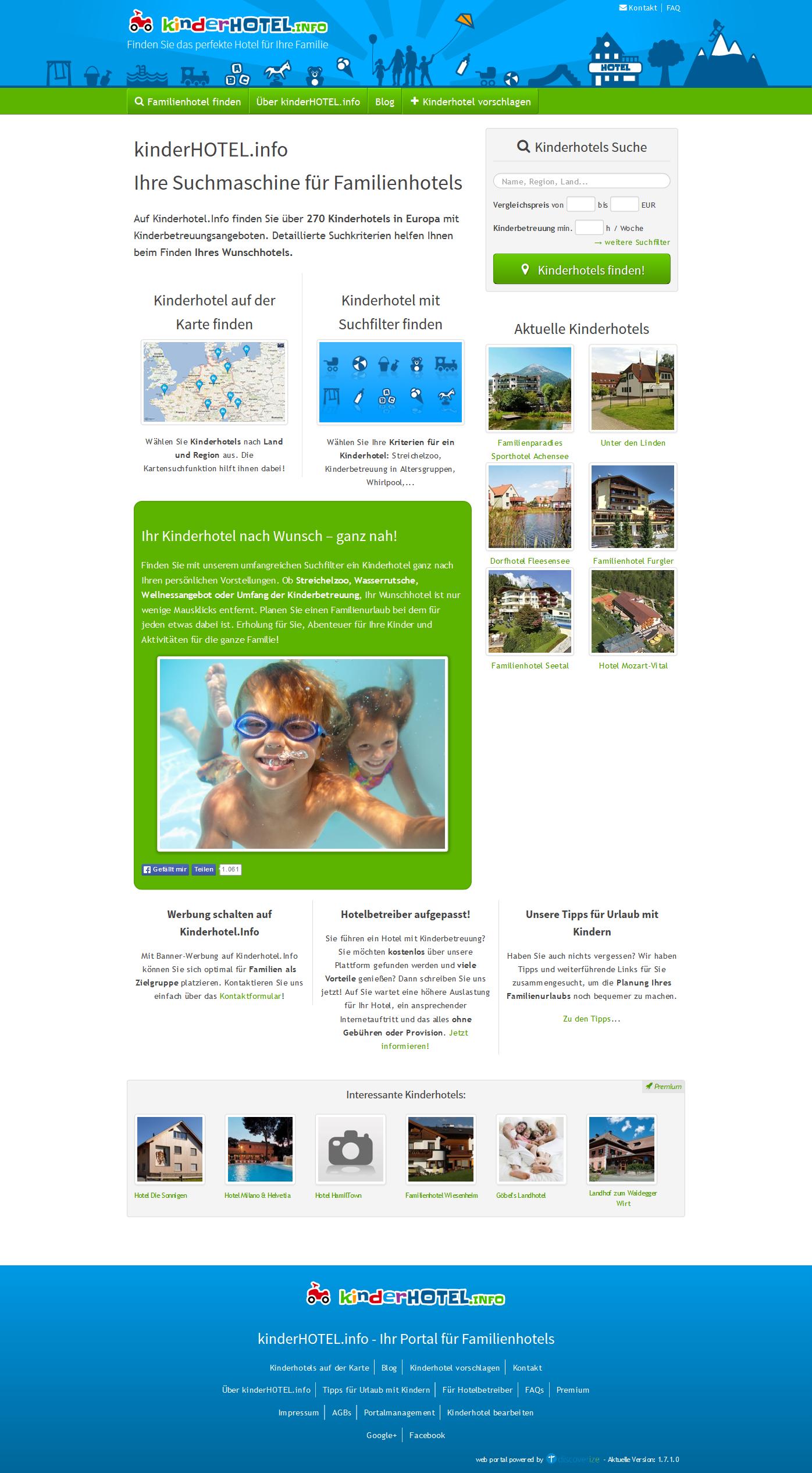 Startseite layout und content discoverize for Design kinderhotel