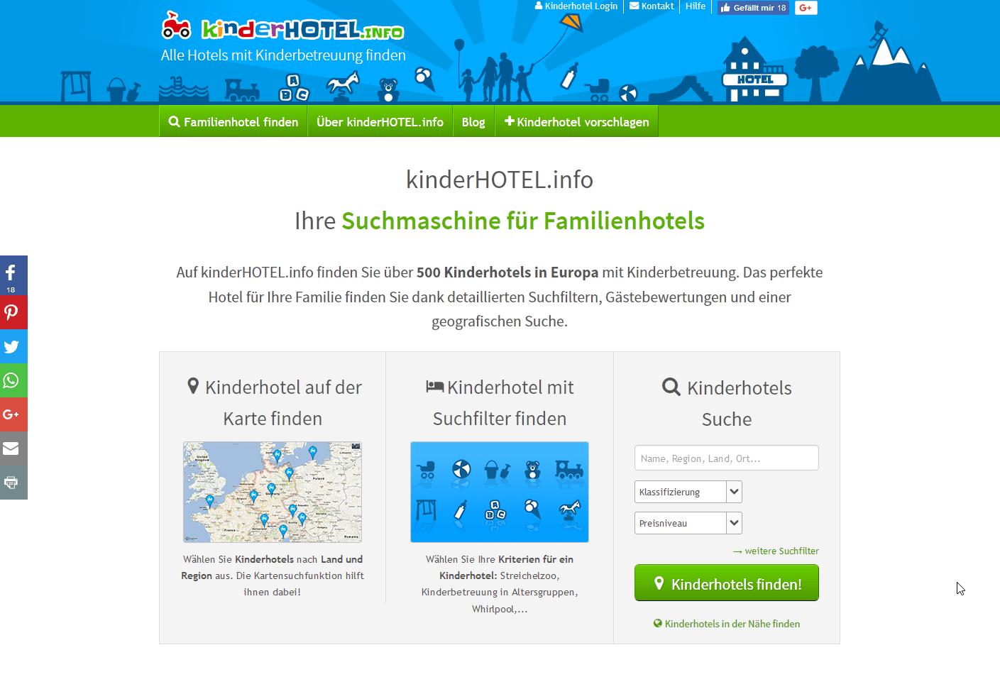 Branchenportal templates und design inspiration discoverize for Design kinderhotel