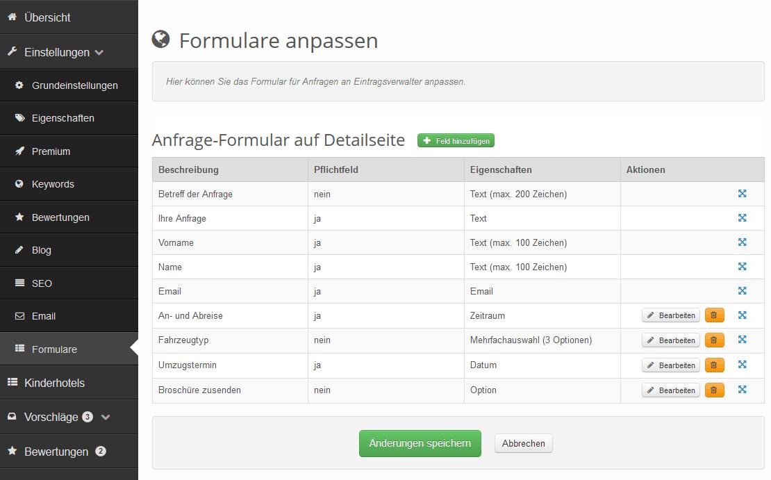 Anfrageformular individuell konfigurieren – discoverize Update 5.8 ...