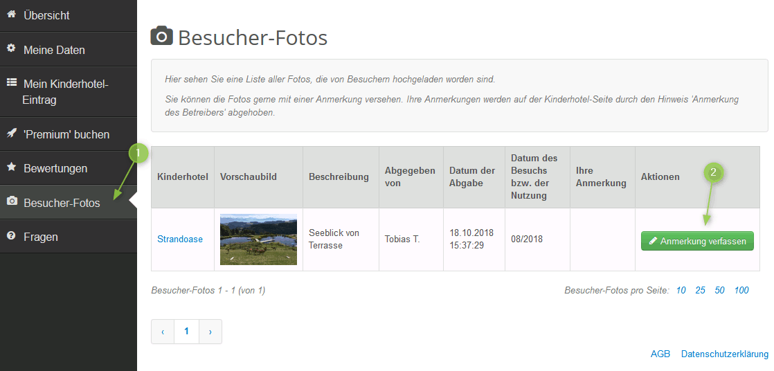 Anmerkung verfassen zu Besucher-Fotos