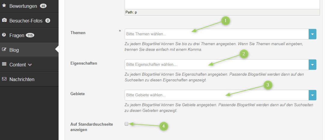 Blogartikel kategorisieren und zuordnen