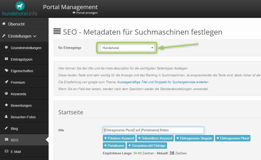 SEO Meta-Daten für mehrere Eintragstypen festlegen