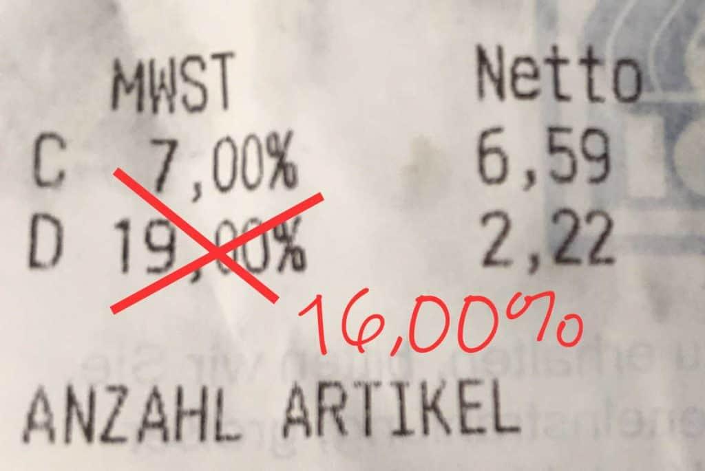 Mehrwertsteueränderung in Deutschland