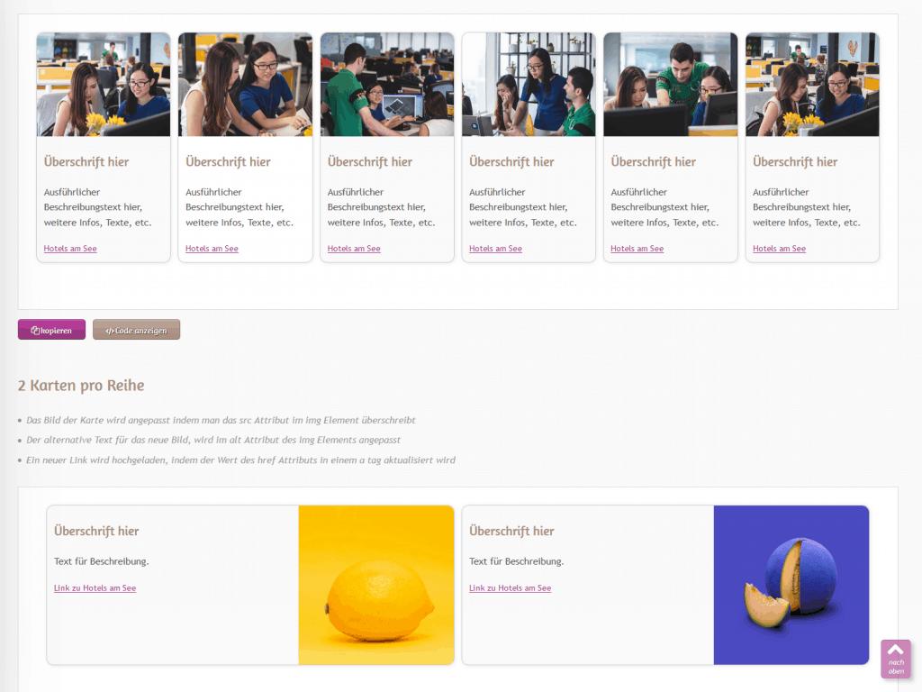 neue Bilder für Branchenportal Html Vorlagen Redesign für CMS