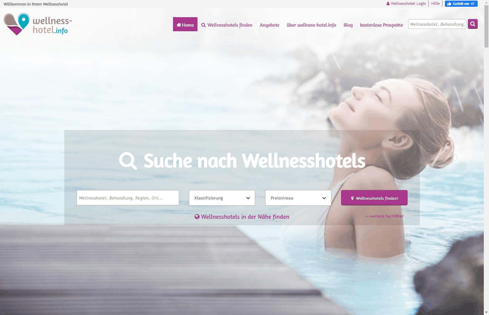 Hero-Bild volle Höhe mit Transparenz im Branchenportal wellness-hotel.info